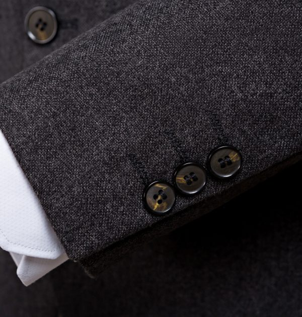 OSCN7-2-Pcs-Dark-Gray-Suit-Men-Slim-Fit-Cuff