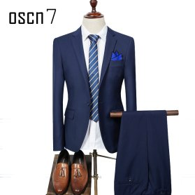 OSCN7-2-Pcs-Solid-Suit-Men-Slim-Fit-Main-NavyBlue
