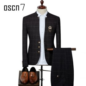 OSCN7-Plaid-Suit-Men-Slim-Fit-Main