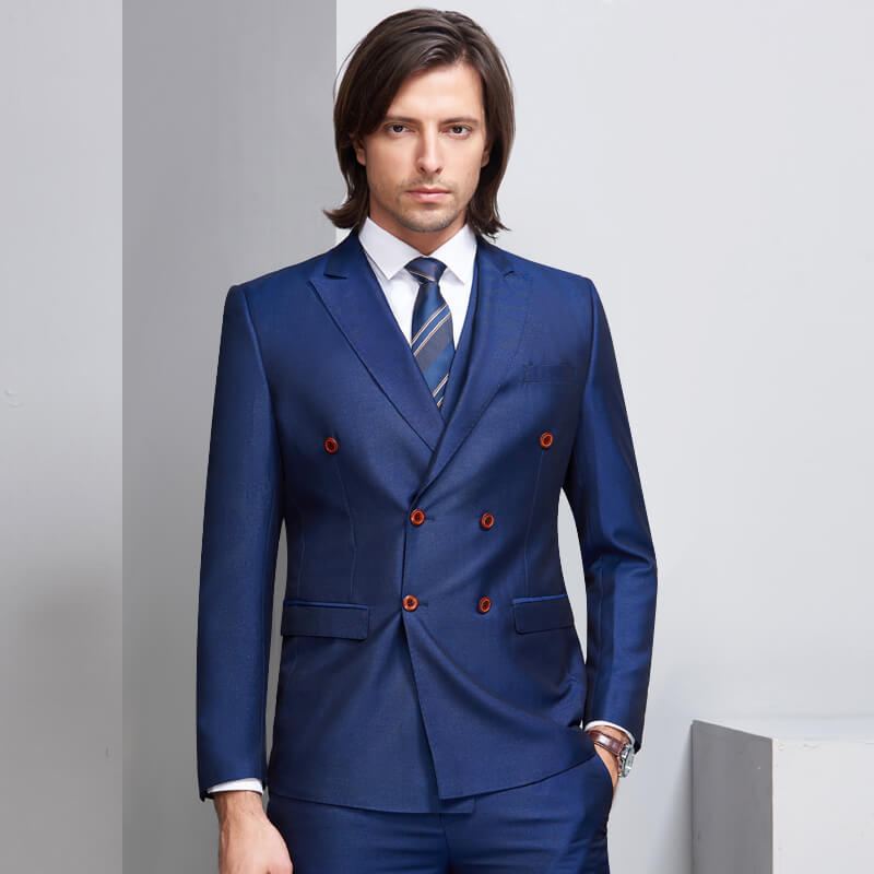 OSCN7 Double Breasted Suit Men 3 Piece 2018 Fashion Wedding Dress Suits for  Men