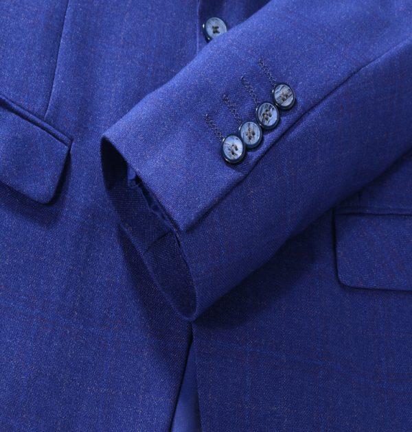 OSCN7 Blue Mens Blazer Jackets Button