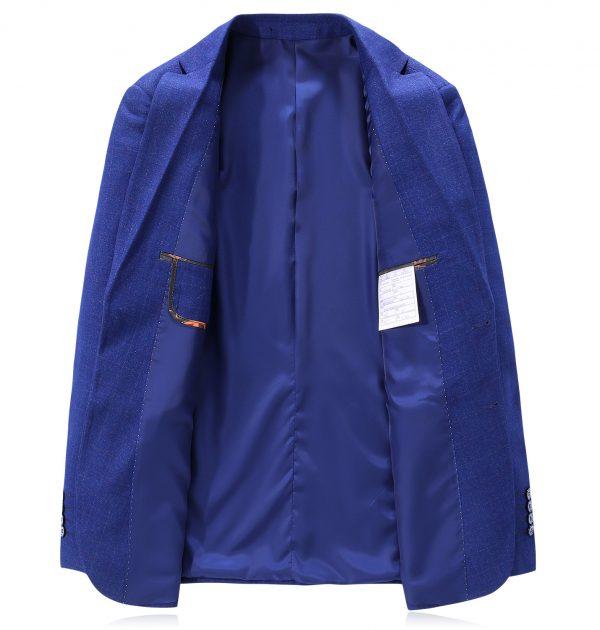 OSCN7 Blue Mens Blazer Jackets Inner