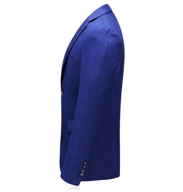 OSCN7 Blue Mens Blazer Jackets Side View