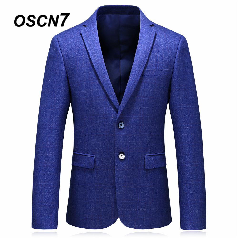 OSCN7 Blue Mens Blazer Jackets