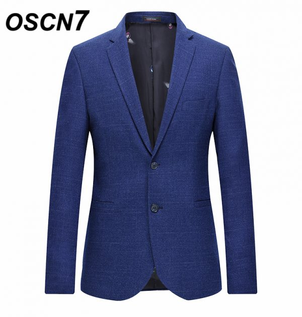 OSCN7 Blue Stripe Slim Fit Blazer