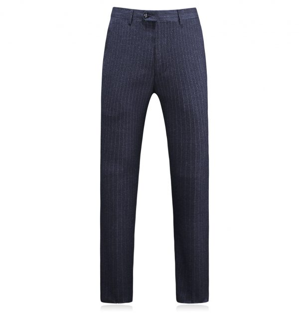 OSCN7 Double Breasted 3 Piece Suit Men Striped Pants