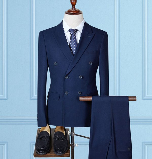 OSCN7 Double Breasted Suit Men 3 Piece Wedding Dress Suits for Men ...