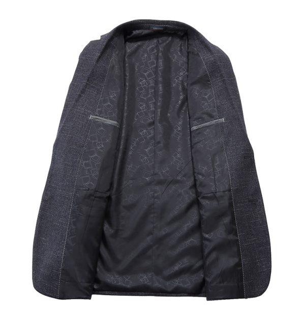 OSCN7 Grey Stripe Casual Blazer Inner