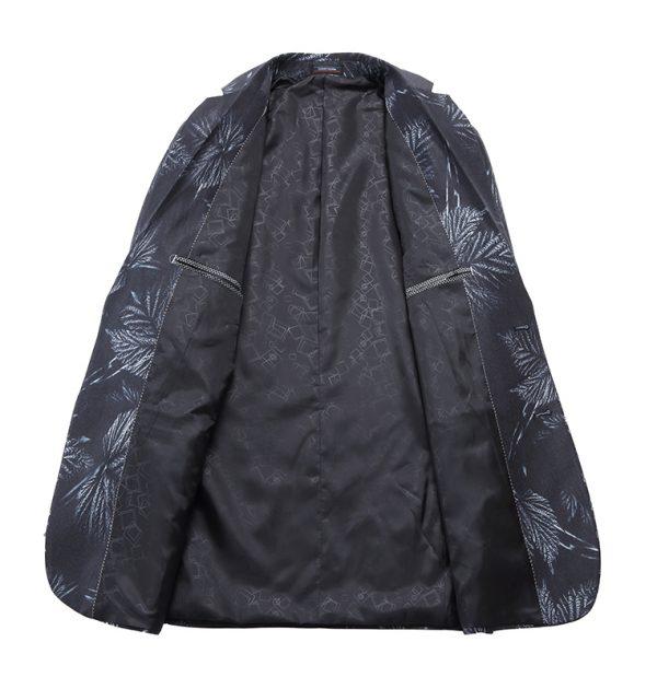 OSCN7 Partywear Leaf Print Blazer Inner