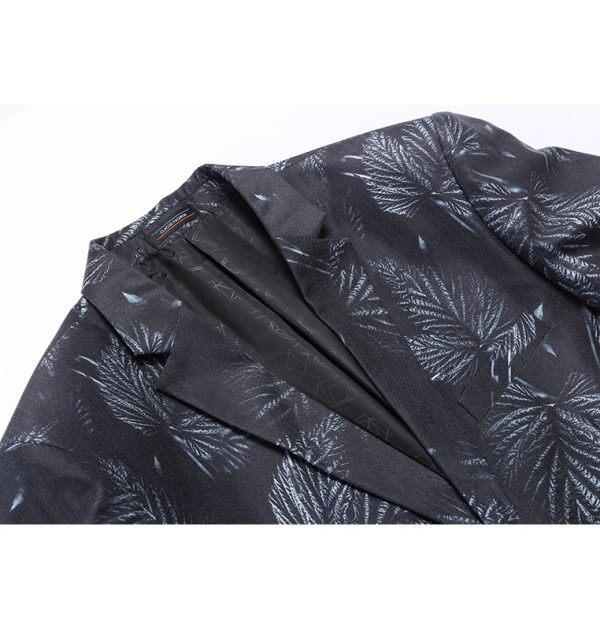 OSCN7 Partywear Leaf Print Blazer Outer