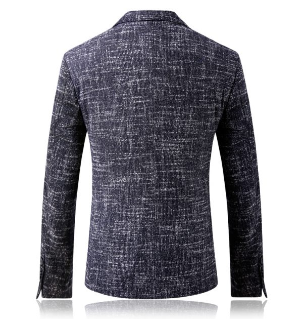 Oscn7 Winter Stripes Mens Wool Blazer Back View