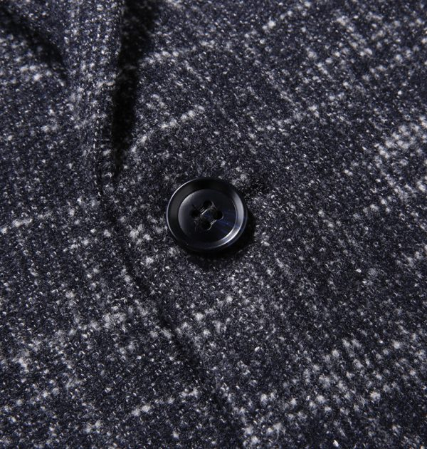 Oscn7 Winter Stripes Mens Wool Blazer Button
