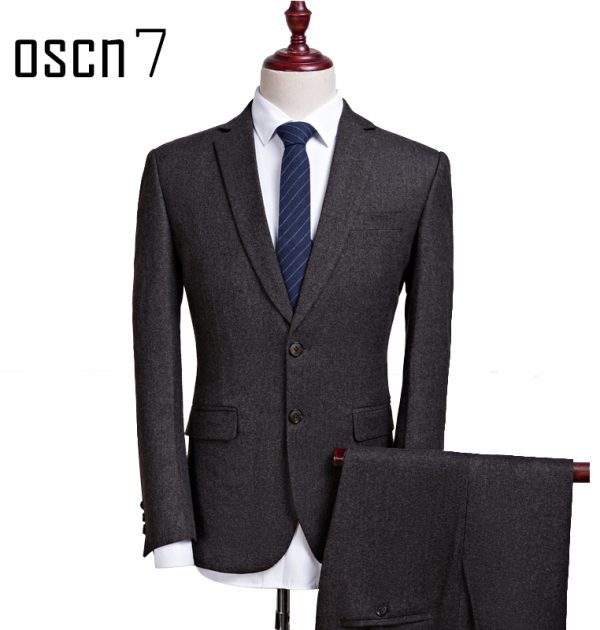 OSCN7-2-Pcs-Dark-Gray-Suit-Men-Slim-Fit-Main