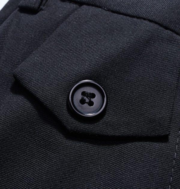 OSCN7-2-Pcs-Solid-Suit-Men-Slim-Fit-Button