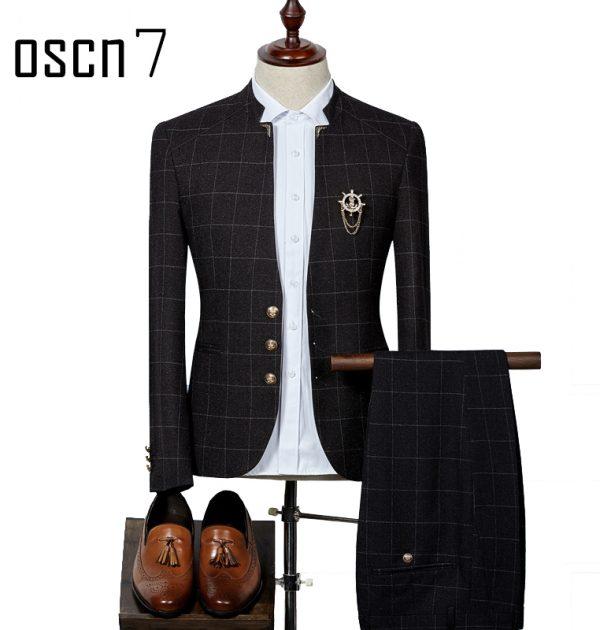 OSCN7-Plaid-Suit-Men-Slim-Fit-Main