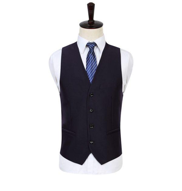 OSCN7 Solid Color Men Suit Vest Slim Fit Purple