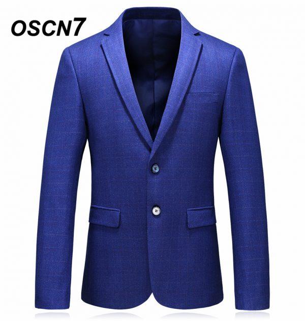 OSCN7 Blue Mens Blazer Jackets