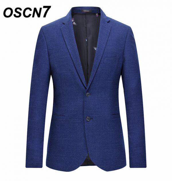 OSCN7 Blue Stripe Slim Fit Blazer