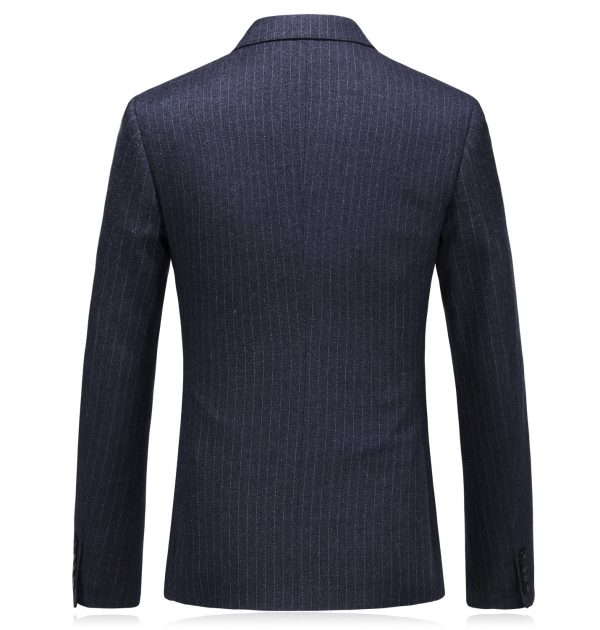 OSCN7 Double Breasted 3 Piece Suit Men Striped Suit Back