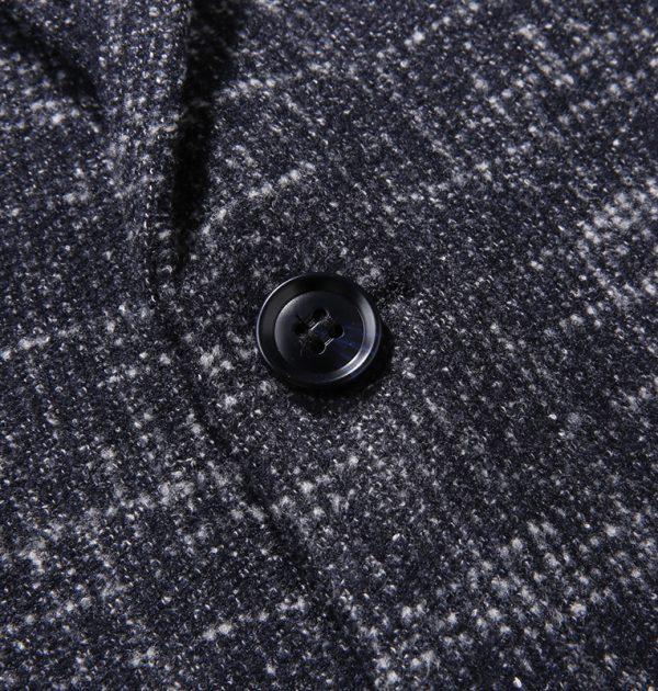 Oscn7 Winter Stripes Mens Wool Blazer Button